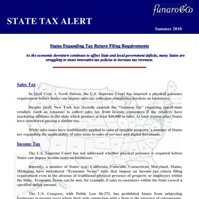 States Expanding Tax Return Filing Requirements