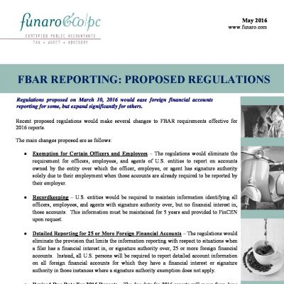 FBAR Reporting: Proposed Regulations