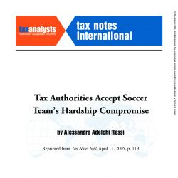 Tax Authorities Accept Soccer Team's Hardship Compromise, Tax Notes International