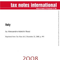 2008 Year in Review, Tax Notes International