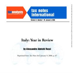 Italy - Year in Review, Tax Notes International